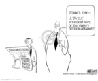 Ann Telnaes  Ann Telnaes' Editorial Cartoons 2003-01-23 Bush polls
