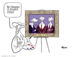 Ann Telnaes  Ann Telnaes' Editorial Cartoons 2006-07-14 George Bush painting