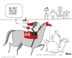 Ann Telnaes  Ann Telnaes' Editorial Cartoons 2004-10-31 equestrian