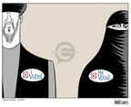 Ann Telnaes  Ann Telnaes' Women's  eNews Cartoons 2005-12-18 rights of women