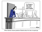 Ann Telnaes  Ann Telnaes' Women's  eNews Cartoons 2005-08-18 confirmation