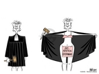 Ann Telnaes  Ann Telnaes' Women's  eNews Cartoons 2005-10-20 confirmation