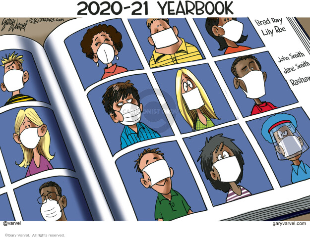 2020-21 Yearbook. Brad Ray. Lily Roe. Johns Smith. Jane Smith.